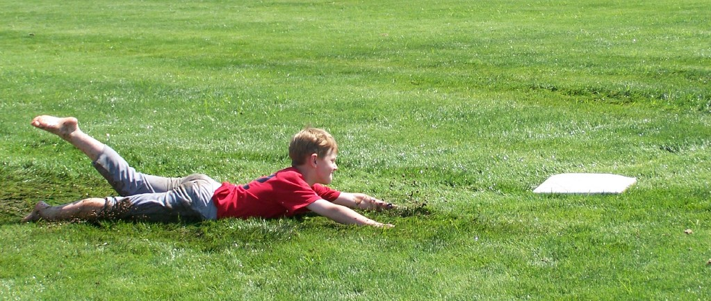 Ok One Look At That Kid And You Know His Pas Are Going To Have A Heck Of Time Getting Those Grass Stains Out I Do Not Envy Them