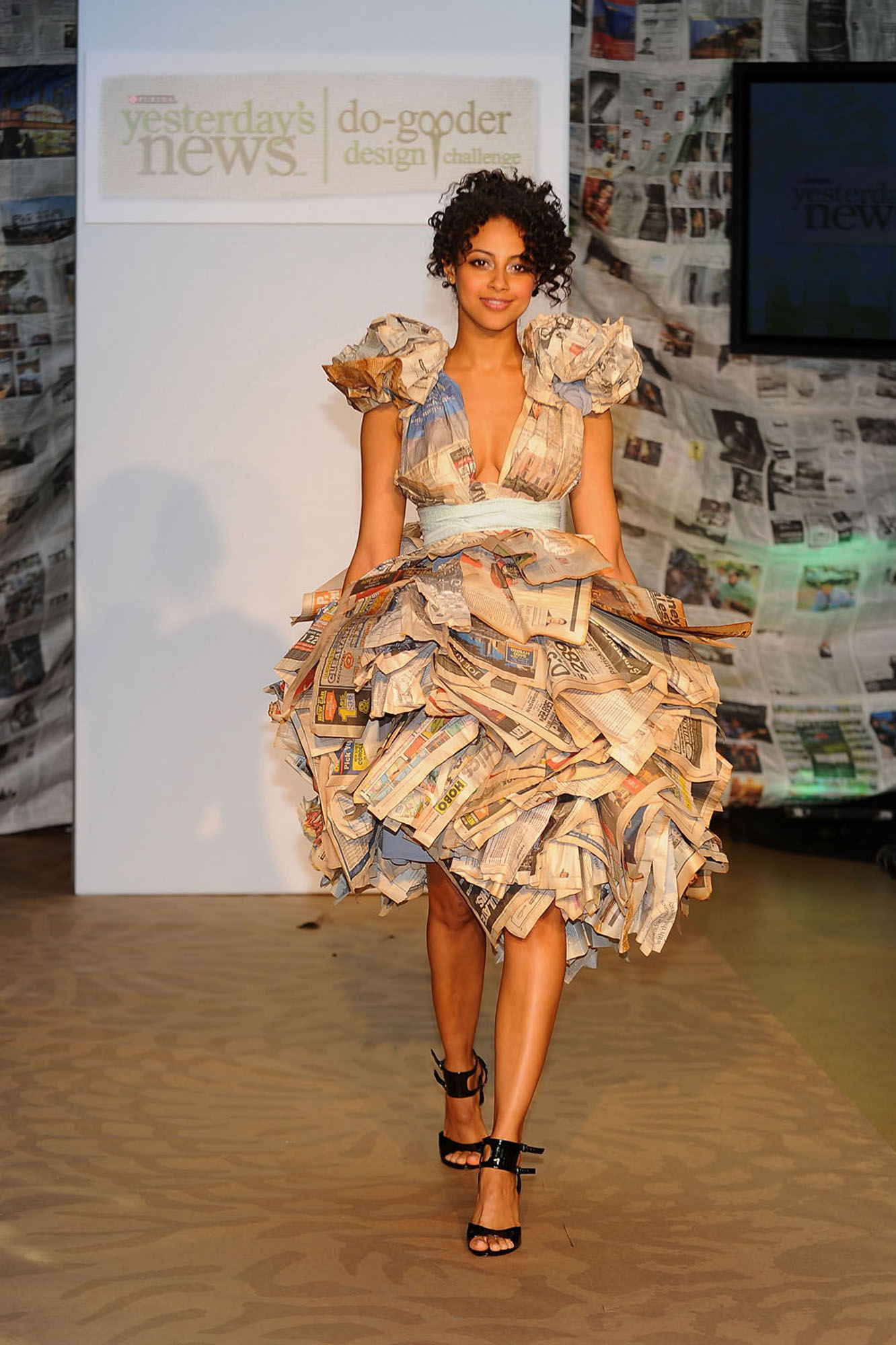Newspaper inspired fashion for a good cause earth divas for Couture fashion designers