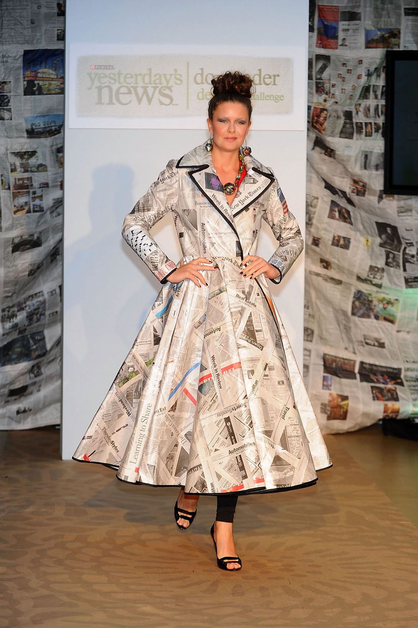 Newspaper-Inspired Fashion For A Good Cause