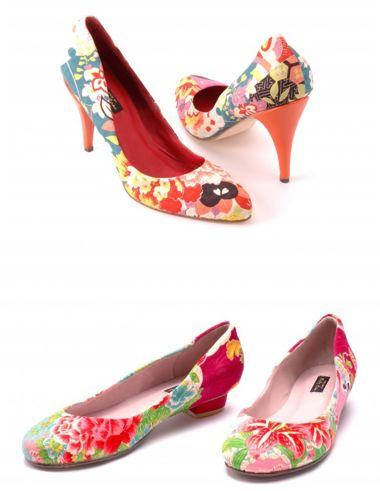7524c412e56 These Luscious Heels Are Made from Upcycled Kimonos
