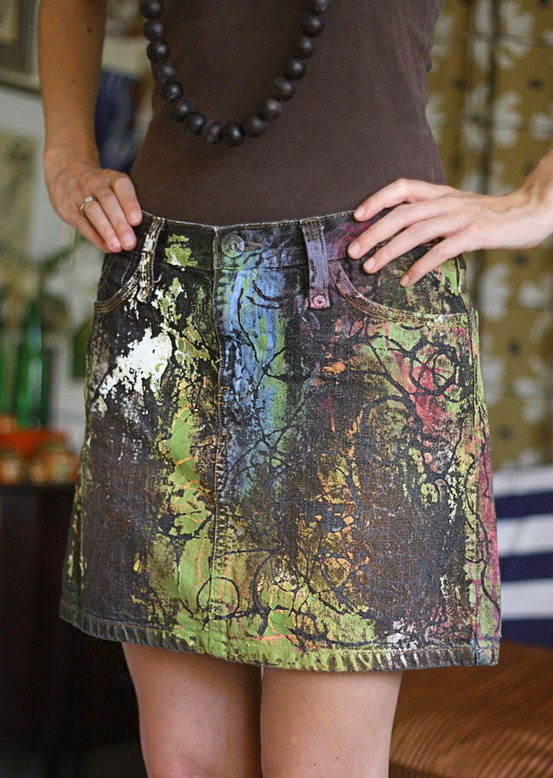Upcycling Denim Skirts Earth Divas Blog