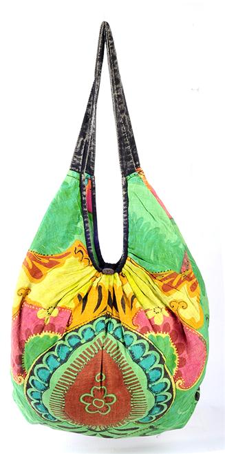 0ce44d8625 I love our Bright Green Floral Bag because it s so alive. These colors just  pop